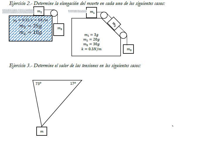 2o ciclo Dinamica: Diagramas de cuerpos libre dudas.